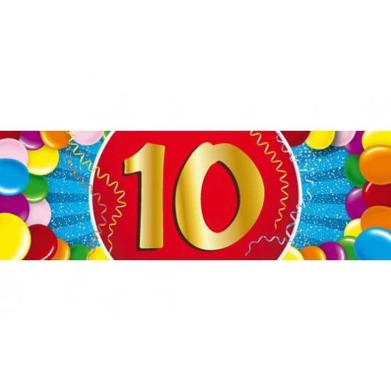 10 jaar sticker