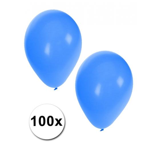 100 Blauwe feest ballonnen