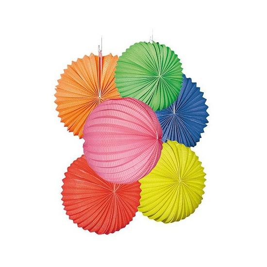 12 gekleurde lampionnetjes