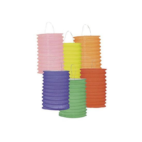 12 papieren lampionnen
