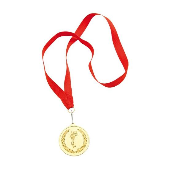 1e plaats medaille goud gekleurd
