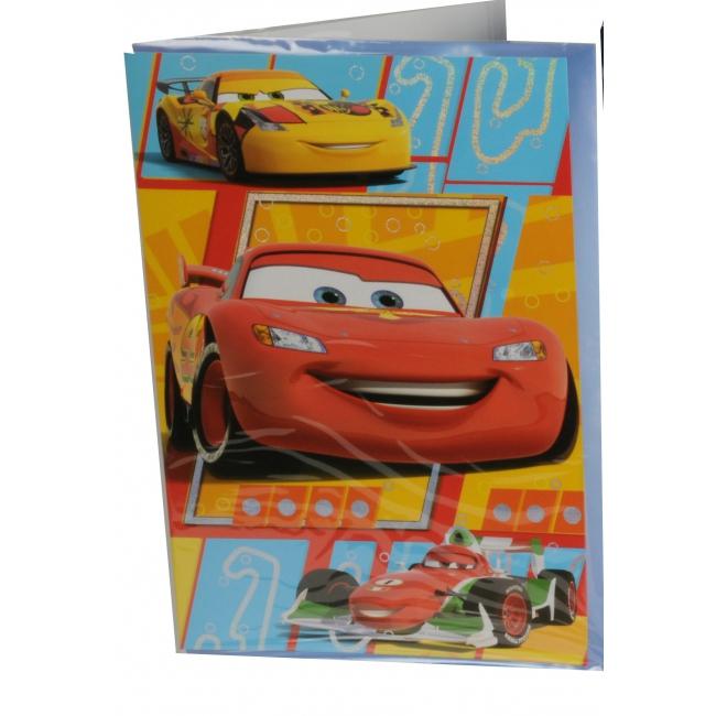26 cm Cars verjaardagskaart