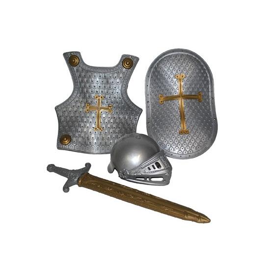 4 delige ridder set zilver