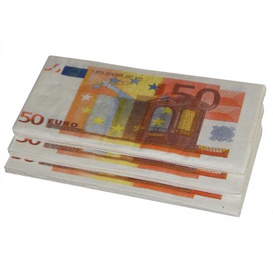50 euro biljet servetten 10 stuks