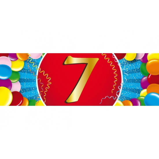 7 jaar sticker