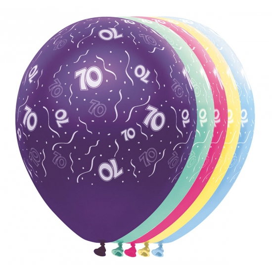 70 jaar versiering helium ballonnen