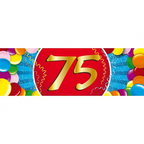 75 jaar sticker