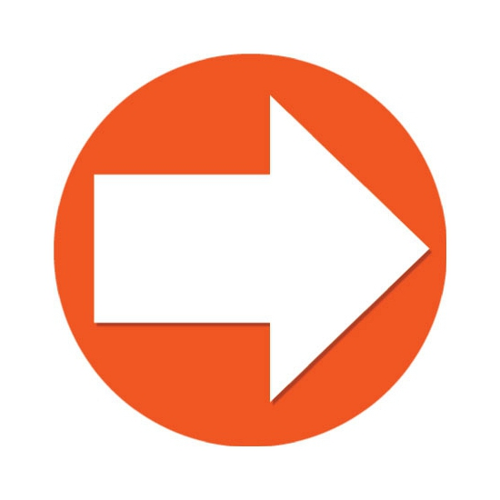 Accent pijl sticker oranje 14,8 cm