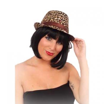 Al Capone hoedje met luipaard print