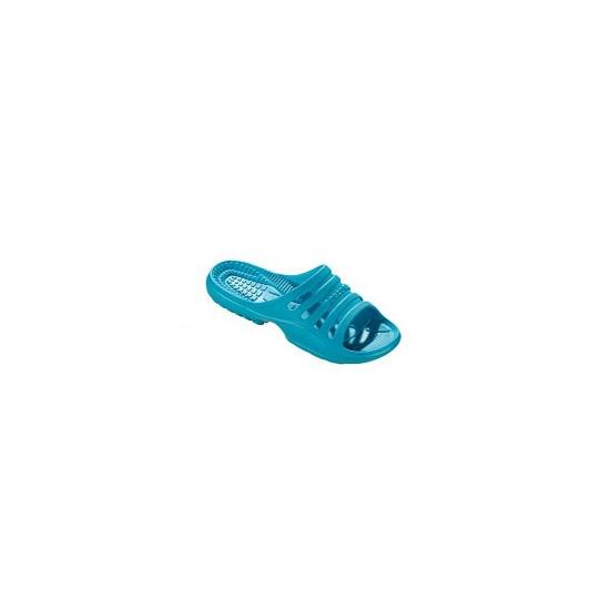 Aquablauw gekleurde campingslippers voor dames