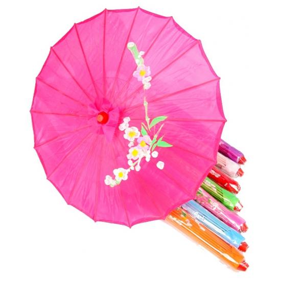 Aziatische paraplu met bloemen