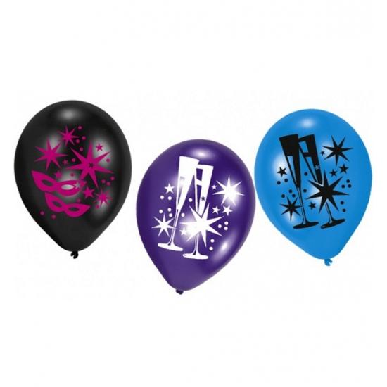 Ballonnen met oogmaskers 6 stuks