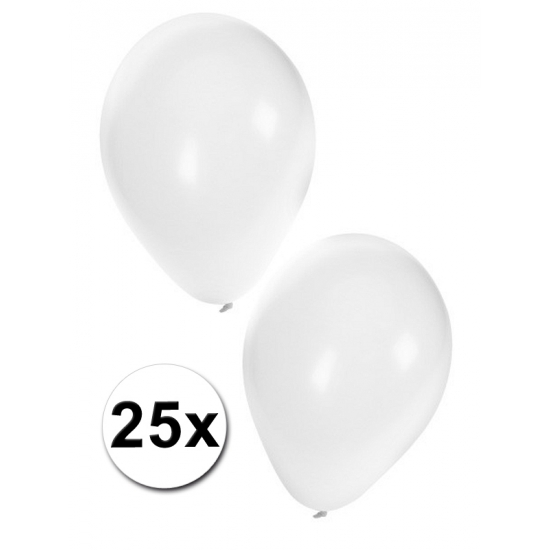 Ballonnen wit in zakje van 25 stuks