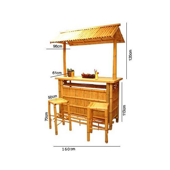 Bar met bar krukken van bamboe