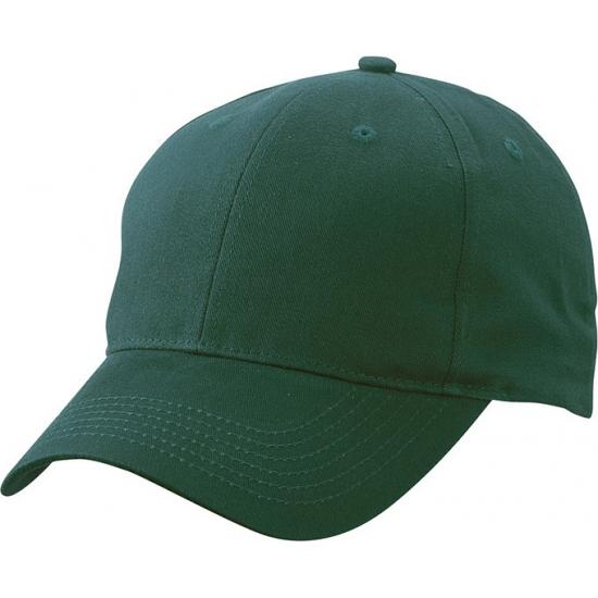 Basic baseball cap donkergroen