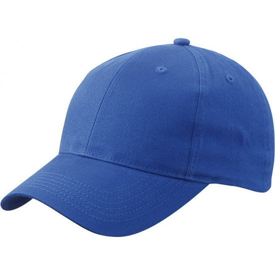 Basic baseball cap kobalt blauw