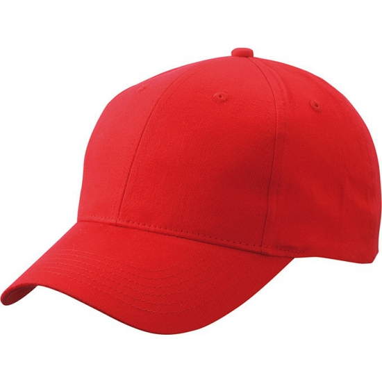 Basic baseball cap rood