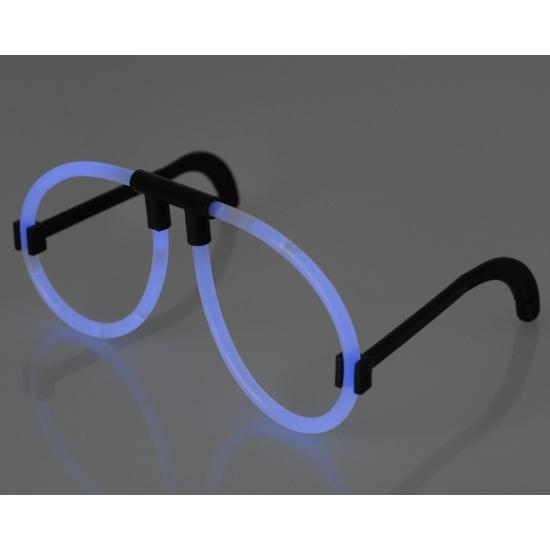Blauw bril neon licht
