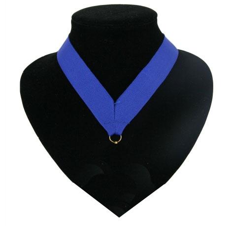 Blauw halslint