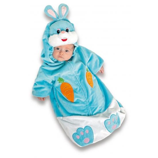 Blauw konijnen pakje voor baby s