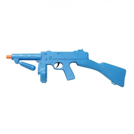 Blauw plastic machinegeweer