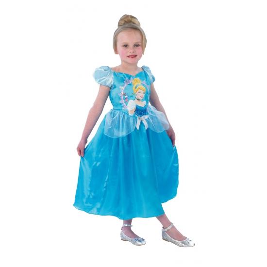 Blauwe Assepoester jurk voor kinderen