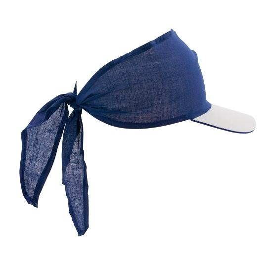Blauwe bandana zonnekleppen