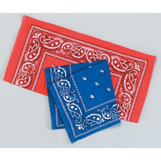 Blauwe bandana