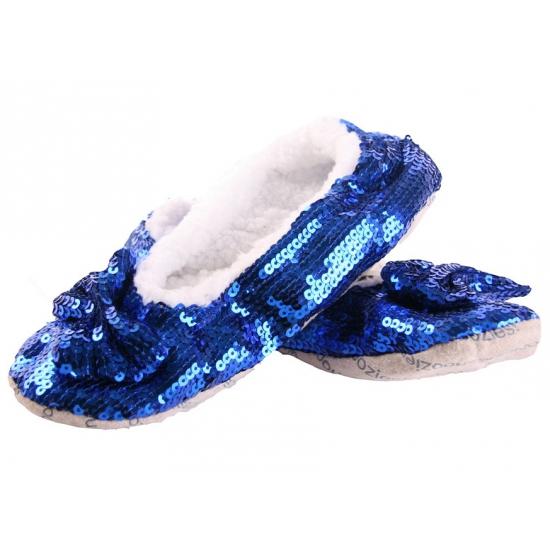 Blauwe blingbling sloffen