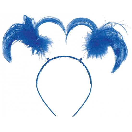 Blauwe diadeem met staartjes