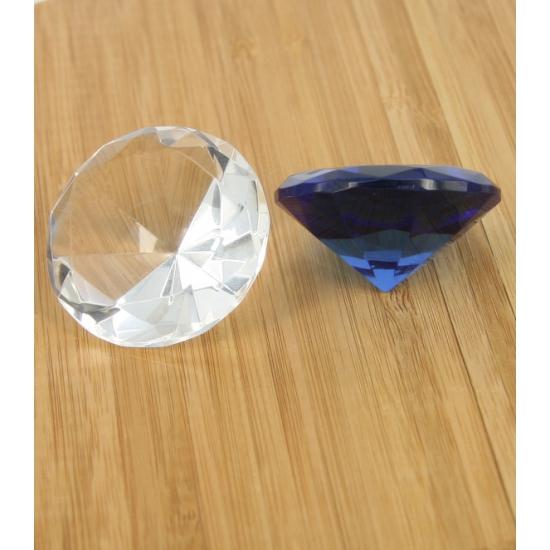 Blauwe diamanten van glas 5 cm per stuk