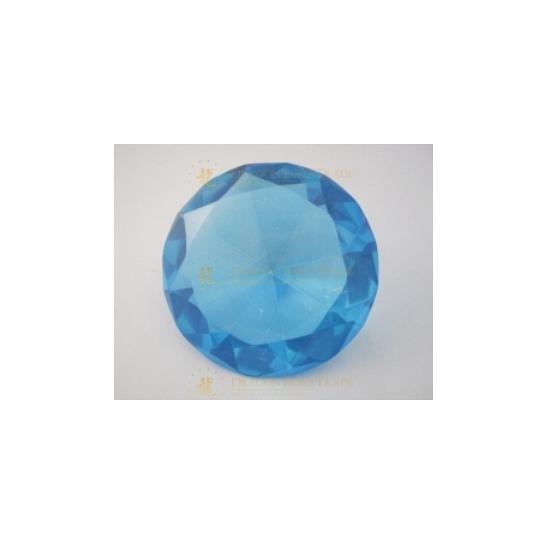 Blauwe diamanten van glas 8 cm per stuk