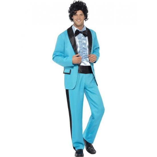 Blauwe disco kleding voor heren