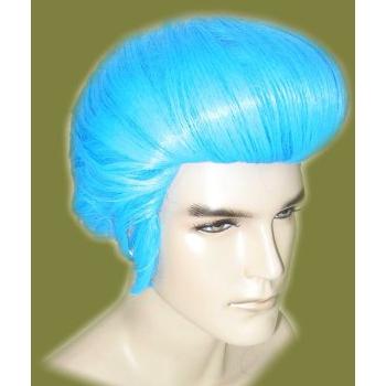 Blauwe Elvis Presley pruik