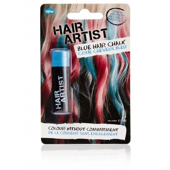 Blauwe haarverf voor dip