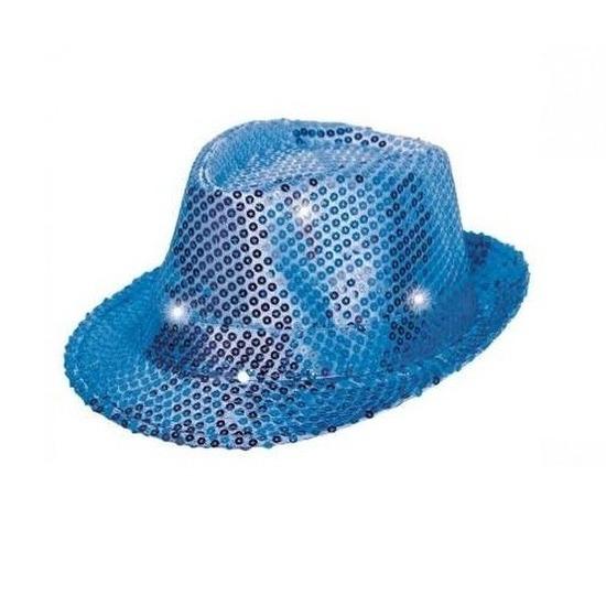 Blauwe hoed voor volwassenen met licht