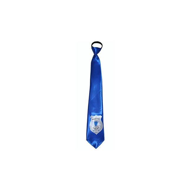 Blauwe hottie police stropdas