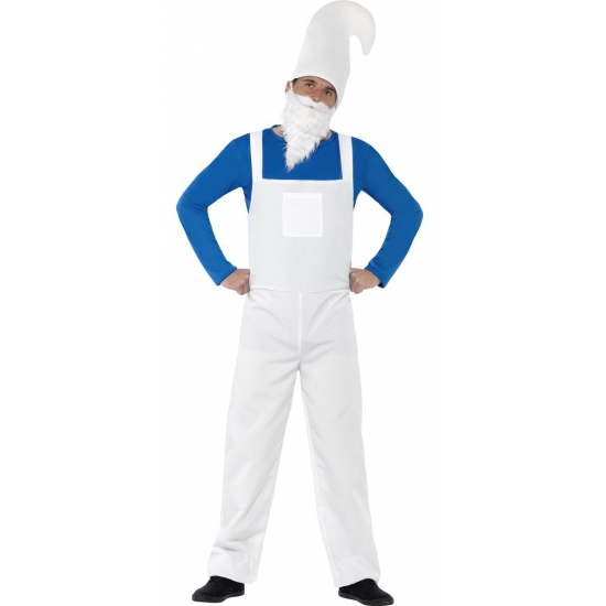 Blauwe kabouter outfit heren