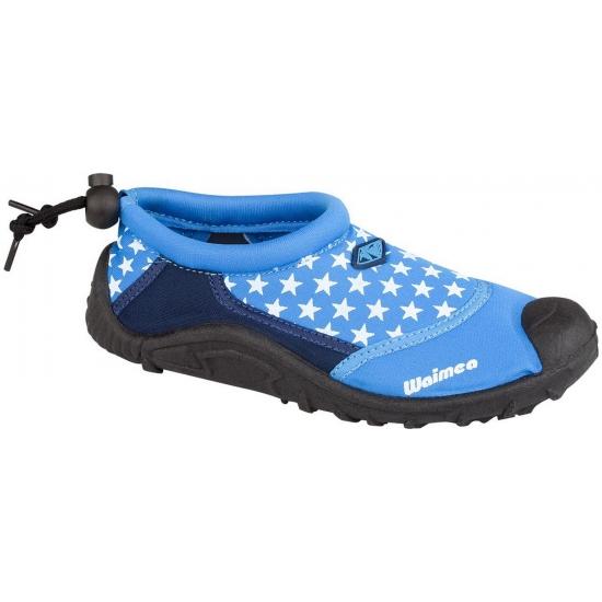 Blauwe kinder waterschoenen met sterretjes