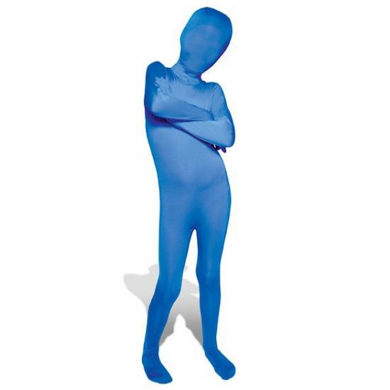 Blauwe morphsuit pak voor kinderen