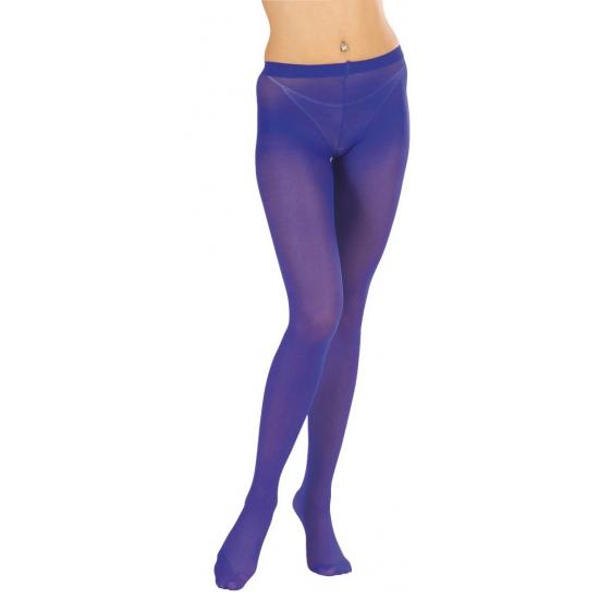 Blauwe panty voor dames
