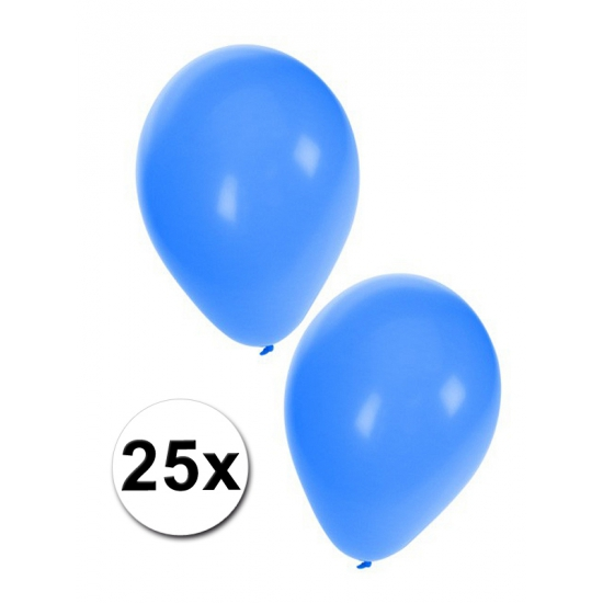 Blauwe party ballonnen 27 cm