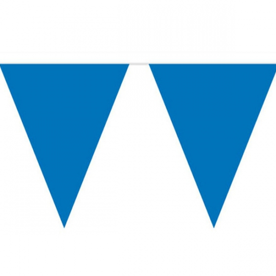 Blauwe vlaggenlijnen