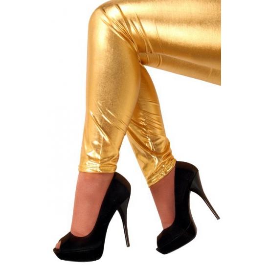Bling bling legging in het goud