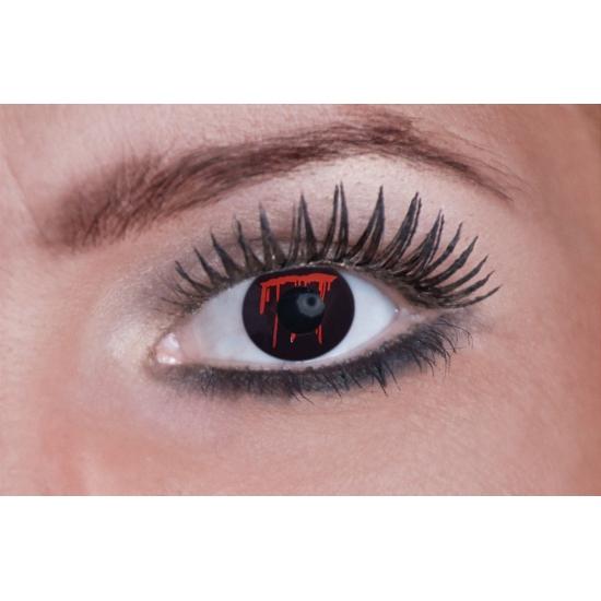 Bloedende ogen feestlenzen zwart