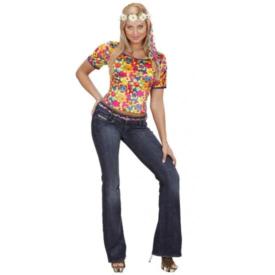 Bloemenprint hippieshirt