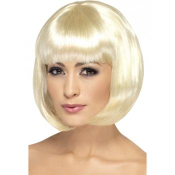 Blonde boblijn damespruik