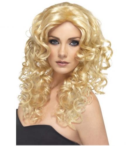 Blonde dames pruik met golvend haar