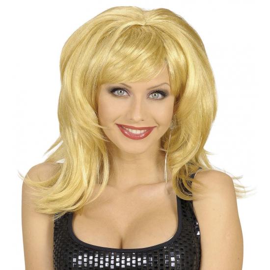 Blonde damespruik met big hair