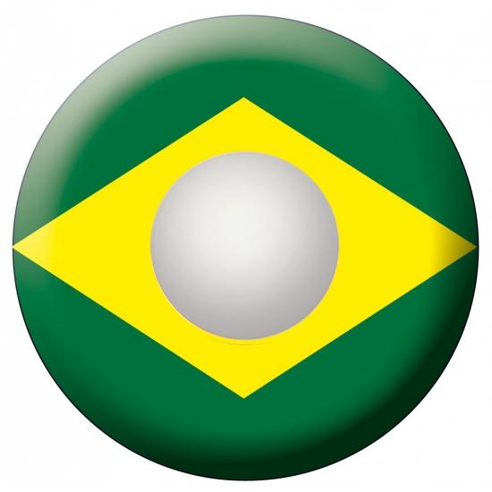 Braziliaanse vlag feestlenzen